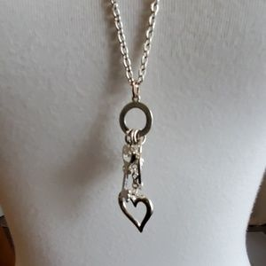 Jewelry - Silver Toned Necklace with Pendants